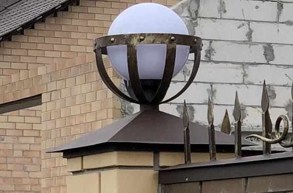 Светильники на столбы забора
