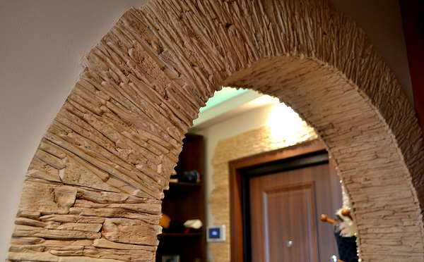 Арка декоративным камнем